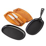 Kitchen HQ 7-piece Cast Iron Steak Set
