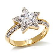 "Kristin Chenoweth ""Lookahead"" Faceted Star Pavé Ring"