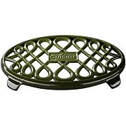 "La Cuisine 10"" x 7"" Oval Cast Iron Trivet - Green"