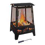 Landmann Haywood Wildlife Steel Fire Pit