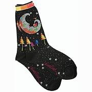 Laurel Burch Socks - Mystic Moon -Black