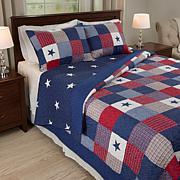 Lavish Home Caroline Embroidered Quilt Set