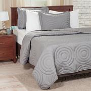 Lavish Home Solid Embossed Quilt Set