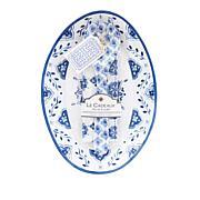 Le Cadeaux Platter, Servers and Tea Towel Set