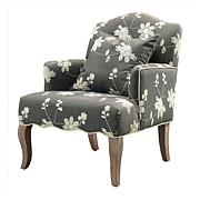 Linon Home Dixie Floral Arm Chair - Gray