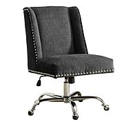 Linon Home Nash Charcoal Office Chair - Gray
