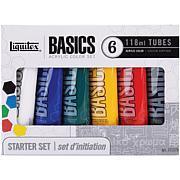 Liquitex 118ml 6-pack Basics Acrylic Paint - Assorted