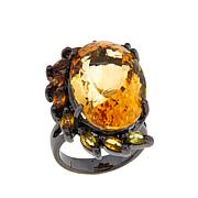 Lisa Klein 25ctw Citrine and Orange Sapphire Ring
