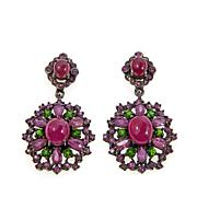 Lisa Klein Ruby and Multigemstone Earrings
