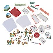Little Darlings Garden Party Card Die-Cut  Kit Set