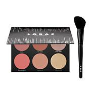 LORAC Shine Bright Color & Light Source Cheek Palette with Brush