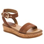 Lucca Lane Karel Leather Wedge Sandal