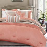 Madison Park Amherst 7pc Coral Comforter Set - Queen