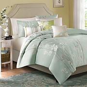 Madison Park Athena Duvet Set Full/Queen Blue
