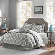 Madison Park Merritt 9pc Bedding Set - Full/Gray