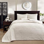 Madison Park Quebec Quilted Bedspread Set - Ivory