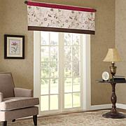 "Madison Park Serene Embroidered Valance - Red - 50""x18"""