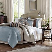 Madison Park Tradewinds Duvet Set Full/Queen Blue