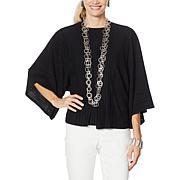 MarlaWynne Plisse Knit Kimono Topper
