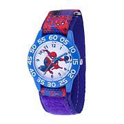 Marvel Spider Man Kids Time Teacher Watch Printed Hook & Loop Strap