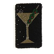 Mary Frances Beaded Glass Martini Phone Pouch