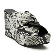 Matisse Cavalli Snake-Print Leather Platform Wedge