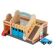 Melissa & Doug Service Station Parking Garage Set