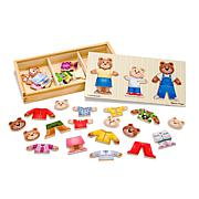 Melissa & Doug Wooden Bear Family Dress-Up Puzzle