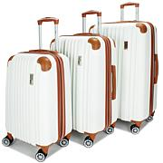 Miami Carryon Collins 3-Piece Expandable Retro Spinner Luggage Set