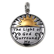 Michael Anthony Jewelry® 2-Tone Round Sun Stainless Steel Pendant