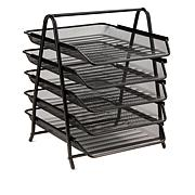 Mind Reader 5-Tier Steel Mesh Desk Organizer