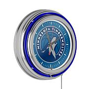 Minnesota Timberwolves Double Ring Neon Clock