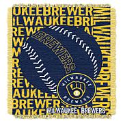 MLB Double Play Woven Throw - Milwaukee Brewers