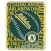 MLB Double Play Woven Throw - Oakland Athletics