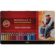 Mondeluz Aquarell Watercolor Pencils by Chartpak - 36pk