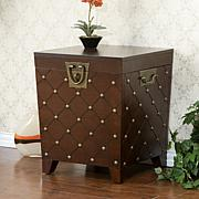 Nailhead End Table Trunk - Espresso