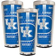 NCAA 3-piece Shot Glass Set - Kentucky