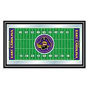 NCAA Framed Football Field Mirror - East Carolina