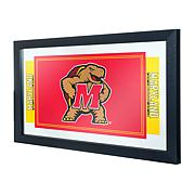 NCAA Logo and Mascot Framed Mirror - Maryland