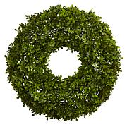 "Nearly Natural 22"" Boxwood Wreath"