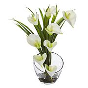 Nearly Natural Silk Calla Lily Arrangement