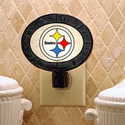 NFL Art Glass Nightlight - Pittsburgh Steelers