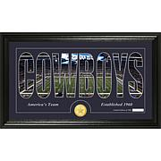 NFL Bronze Coin Panoramic Photo Mint - Cowboys