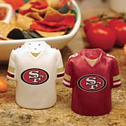 NFL Jersey Ceramic Salt and Pepper Shakers - 49ers