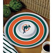 NFL Melamine Chip and Dip Serving Tray - Miami Dolphins