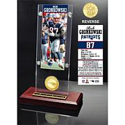 NFL Rob Gronkowski Desktop Ticket/Bronze Coin Holder