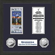 NFL Seahawks Super Bowl XLVIII Replica Ticket and Coins