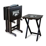 NFL Team Logo Set of 4 TV Trays with Stand
