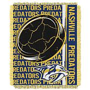 NHL Double Play Woven Throw - Nashville Predators