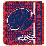 NHL Double Play Woven Throw - Washington Capitals